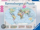 Ravensburger Staatkundige Wereldkaart - Puzzel - 1000 stukjes