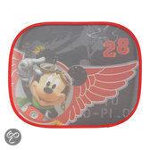 Disney Mickey - Mouse Zonnescherm Zijruit 2 Stuks - Zwart/Rood