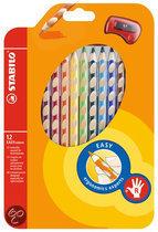 STABILO EASYcolors Rechtshandige Kleurpotloden - 12 Stuks