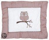 Jollein - Little Naturals - Organic Owl Boxkleed - Roze/Bruin