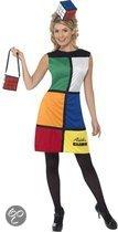 Rubiks kubus jurk met hoed en tas 44-46 (l)