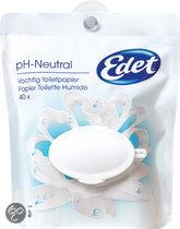Edet Vochtig Toiletpapier pH-Neutral - 40 Stuks