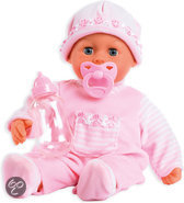 Bayer Pop My First Words Baby met 24 Functies - 38 cm - Roze