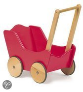 Base Toys Houten Poppenwagen Classic - Rood