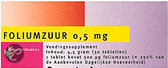 Healthypharm Foliumzuur 0.5mg - 30 Tabletten