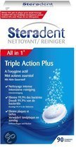 Steradent Triple Action Plus Kunstgebit Reiniger - 90 tabletten - Kunstgebitreiniging