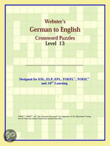 Webster's German To English Crossword Puzzles: Level 13