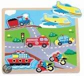 New Classic Toys Geluidspuzzel - Transport