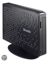 Shuttle Barebone Ultra Slim fanless Black: NM10/D2550/max 2x2GB SO-DIMM DDR3/Intel GMA 3650 HDMI+VGA/ 2xSata/5xUSB/2.5 bay/Gb LAN/WLAN/Card R/ 1.6 litre/ext 40W