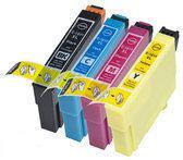 Compatible Epson T1816 / Epson 18XL / Epson 18 met chip, 4 pak. 1 Zwart, 1 Cyaan, 1 Magenta, 1 Geel.