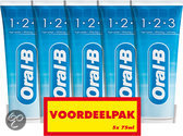 Oral B 1-2-3 Fresh Mint - 5x 75 ml - Tandpasta