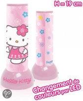 Hello kitty Tafellamp &#039 flower&#039  kleurwissel 19cm