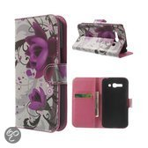 Alcatel One Touch Pop C9 Stand Case Hoesje Lotus