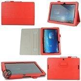 JavuCase - Asus MeMO Pad 10 (ME102A) - Business Wallet Cover Hoes Rood met Stylus