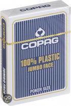 Copag 100% Plastic Poker Speelkaarten - Jumbo Faces - Blauw