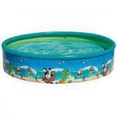 Wehncke: Zwembad voor kinderen met zeer grappige hawai figuren, Kinderzwembad Hawai; Ø 185cm Ø, Blauw-Groen