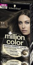 Schwarzkopf Million Color 5-0 - Haarkleuring