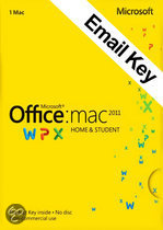 Microsoft office Microsoft Office Mac  Home and Student 2011| OEM | 32/64 bits | Download + Licentie | Installatietaal: Engels