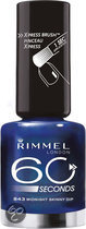 Rimmel 60 seconds finish - 843 Midnight Skinny Deep - Blauw - Nagellak