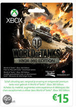 Microsoft Xbox Live 15 Euro Kaart World Of Tanks Edition - Xbox 360 + Xbox One