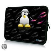 Sleevy 15,6 inch laptophoes pinguïn