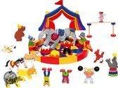 Houten bouw circus 35-delig