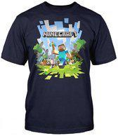 Minecraft - Adventure with Logo Youth Kinder T-Shirt - 128