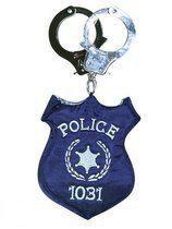 Politie handtas met handboeien