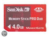 Foto van SanDisk Memory Card Pro Duo 4 GB RoodPSP