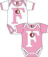 Feyenoord Rompertjes 2-pack wit/roze maat 74/80