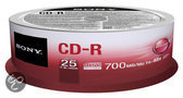 Sony CD-R 700MB/80min (1-48X) 25 pack spindle