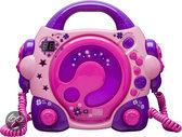 Draagbare CD speler met karaoke functie - Roze