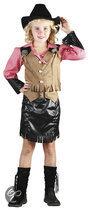 Superluxe Cowgirl Dena - Kostuum - 10-12 jaar