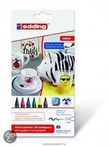 Porselein marker edding 4200-6 basis kleuren set á 6 kleuren