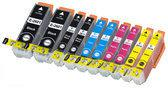 Compatible Epson T2636 / 26XL, 10 Pak. 2 Zwart groot, 2 Zwart klein, 2 Cyaan, 2 Magenta, 2 Geel.