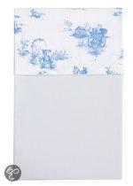 Cottonbaby Toile De Joey Beer - Ledikantlaken 120x150 cm - Lichtblauw