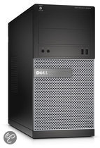 Optiplex 3020 MT/i3-4150 (3.5Ghz 3MB)/4GB (1x4GB) 1600MHz/500GB SATA 7.2k 3.5i/Intel HD 4400/DVD RW//MUI Win7Pro64/Win8.1 OS DVD/Office Trial//1Yr NBD/Black