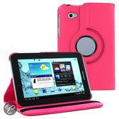 Samsung Galaxy Tab 2 7.0 inch P3100 / P6200 PU Lederen 360 graden rotatie hoes case hoesje roze