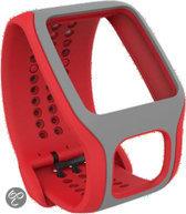 TomTom Cardio Comfort horlogeband - Rood/Lichtgrijs