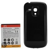 qMust Extended Battery Pack voor de Samsung Galaxy S3 mini (3500mAh) (black)