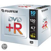 Fuji DVD+R 4.7GB - 16X - Jewelcase - 10 stuks