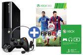Microsoft Xbox 360 Super Slim 500GB Console + 1 Wireless Controller + FIFA 15 + 1 Maand Xbox Live Gold - Zwart Xbox 360 Bundel