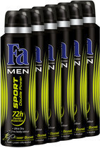 Fa  Sport Double Power Boost - 150 ml - Deodorant - 6 st - Voordeelverpakking