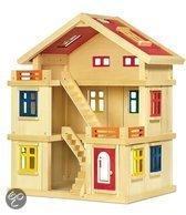 Base Toys Houten Poppenhuis de luxe
