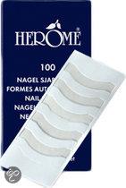 Herôme Nagel Sjablonen - 100 stuks - French Manicure