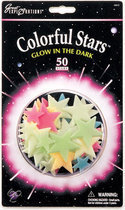 Colorful Stars Glow in the Dark Sterren
