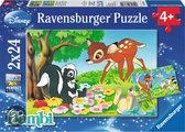 Disney Bambi en z'n vriendjes - Kinderpuzzel - 2x 24 Stukjes