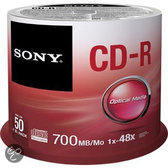 CD-R 48X 700MB SPINDLE 50PCS