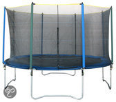 Game on Sport Mega Flash Trampoline Inclusief Net - 366 cm