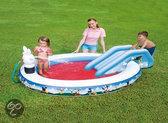 Bestway Zwembad speelplaats 231 x 173 x 74 cm met Glijbaan Disney Mickey Mouse